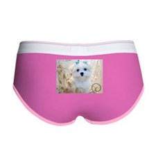 Maltese Blue Bows Women's Boy Brief
