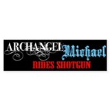 Archangel Michael Bumper Car Sticker