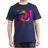 """Color 6"" Fractal Art Black T-Shirt"