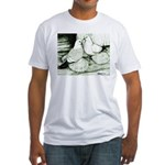 Ice Pigeons Fitted T-Shirt