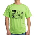 Ice Pigeons Green T-Shirt