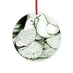 Ice Pigeons Ornament (Round)