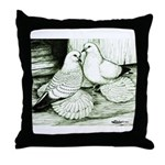 Ice Pigeons Throw Pillow