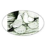 Ice Pigeons Oval Sticker
