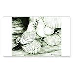Ice Pigeons Rectangle Sticker