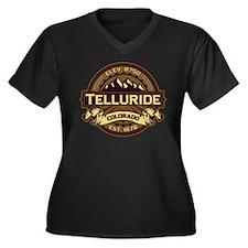 Telluride Sepia Women's Plus Size V-Neck Dark T-Sh