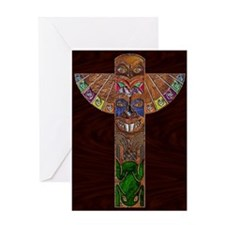 Greeting Card Totem Pole Modern Art