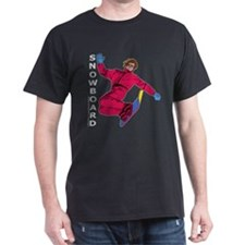 Snowboard #1 Black T-Shirt
