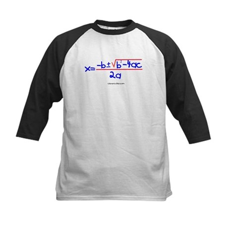 Quadratic Equation Kids Baseball Jersey