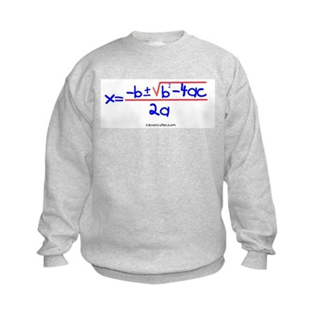 Quadratic Equation Kids Sweatshirt