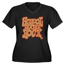 Schoolhouse Rock TV Women's Plus Size V-Neck Dark