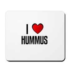 I LOVE HUMMUS Mousepad