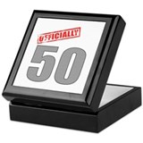Officially 50 Keepsake Box
