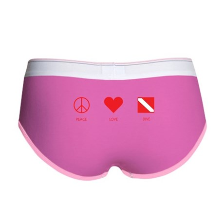 Peace Love Dive Women's Boy Brief