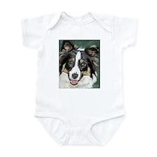 Funny Collie puppy Infant Bodysuit