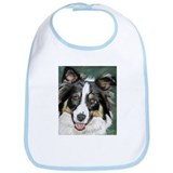 Cute Border collie Bib