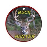 """Buck Hunter"" Ornament (Round)"