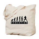 Evolution of Football Tote Bag