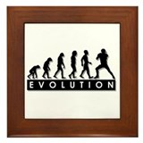 Evolution of Football Framed Tile