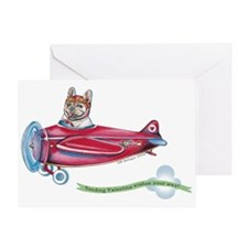 Valentine Airplane (Cream) Greeting Card