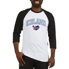 Iceland Map English Baseball Jersey