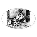 Splash English Trumpeter Oval Sticker