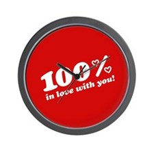 100% In Love With You Wall Clock