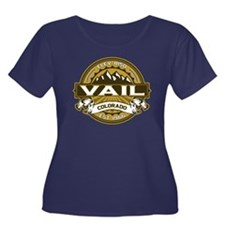 Vail Tan Women's Plus Size Scoop Neck Dark T-Shirt