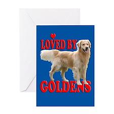 Golden Retriever Valentine's Day card
