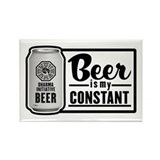 Beer Is My Constant Rectangle Magnet (10 pack)