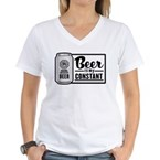 Beer Is My Constant Women's V-Neck T-Shirt