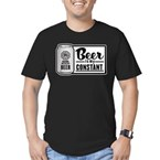 Beer Is My Constant Men's Fitted T-Shirt (dark)