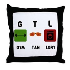 Gym Tan Laundry Throw Pillow