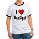 I Love Giant Squid (Front) Ringer T