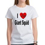 I Love Giant Squid (Front) Women's T-Shirt
