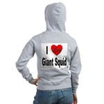 I Love Giant Squid (Back) Women's Zip Hoodie
