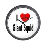 I Love Giant Squid Wall Clock