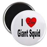 I Love Giant Squid Magnet