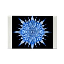 Ice Mandala Rectangle Magnet (10 pack)