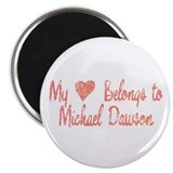 "Heart Michael Dawson 2.25"" Magnet (100 pack)"