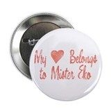 "Heart Belongs Mr Eko 2.25"" Button (100 pack)"