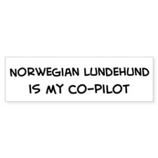 Co-pilot: Norwegian Lundehund Bumper Bumper Sticker