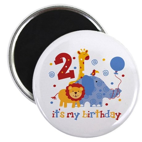 Safari 2nd Birthday Magnet