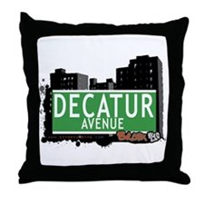 Decatur Av, Bronx, NYC Throw Pillow