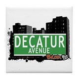 Decatur Av, Bronx, NYC Tile Coaster