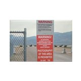 Back Gate Warning Sign Rectangle Magnet (100 pack)