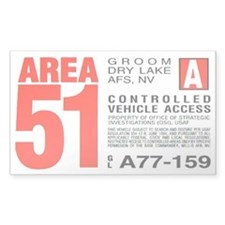 Area 51 Parking Pass Decal
