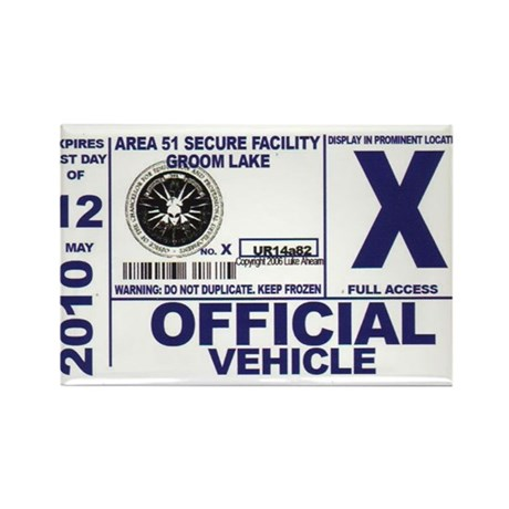 Area 51 Parking Pass Rectangle Magnet