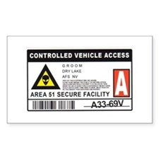 Area 51 Controlled Parking Pa Decal