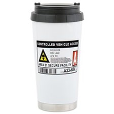 Area 51 Controlled Parking Pa Ceramic Travel Mug